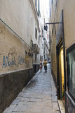 Straat in Genua Stock Foto's