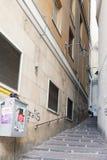 Straat in Genua Royalty-vrije Stock Foto