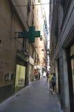Straat in Genua Royalty-vrije Stock Foto's
