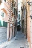 Straat in Genua Royalty-vrije Stock Afbeeldingen