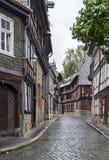 Straat in Goslar, Duitsland Stock Foto