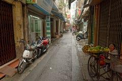 Straat in Hanoi, Vietnam Stock Afbeelding