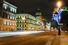 Straat in Heilige Petersburg Stock Foto's