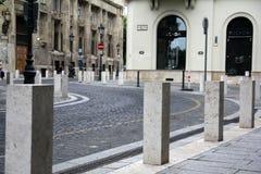 Straat in het centrum van Boedapest Hongarije Royalty-vrije Stock Fotografie