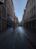 Straat/het Centrum van Bremen/van de Stad stock foto