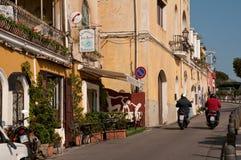 Straat in het centrum van de Kust Italië van Positano Amalfi Royalty-vrije Stock Fotografie