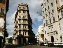 Straat in het centrum van Havana Stock Afbeeldingen