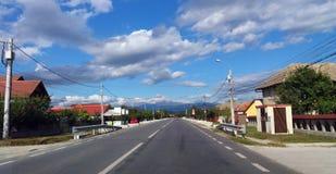 Straat in het dorp royalty-vrije stock afbeelding
