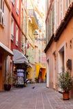 Straat in het Dorp van Monaco in Monaco Monte Carlo Stock Fotografie