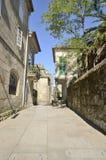 Straat in het oude deel van Pontevedra Stock Foto's