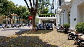 Straat in het Oude Kwart van Hanoi royalty-vrije stock foto