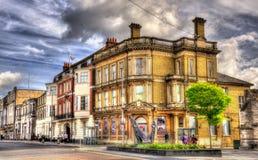 Straat in het stadscentrum van Southampton Stock Foto