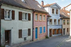 Straat in het vrij deel van oude stad Stock Foto