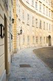 Straat in historische van de binnenstad van Wenen Royalty-vrije Stock Afbeeldingen
