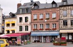 Straat in Honfleur Stock Afbeelding