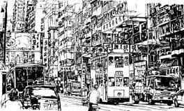 Straat in Hongkong stock illustratie