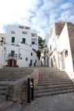 Straat in Ibiza Stock Afbeeldingen