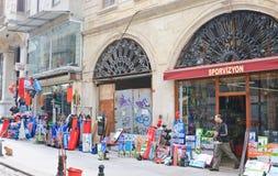 Straat in Istanboel Turkije Stock Foto's
