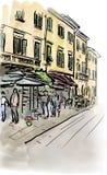 Straat in Italië Royalty-vrije Stock Foto's