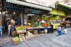 Straat in Jeruzalem Stock Foto
