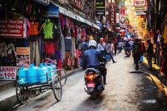 Straat in Katmandu Stock Foto
