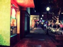 Straat in Kerstmistijd Stock Afbeelding