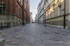 Straat in Krakau Royalty-vrije Stock Afbeelding