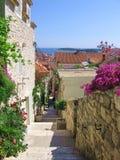 Straat in Kroatië royalty-vrije stock afbeeldingen
