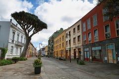 Straat in La Laguna royalty-vrije stock foto's