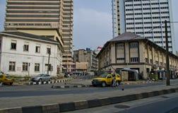 Straat in Lagos Nigeria stock afbeelding
