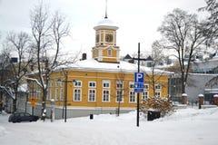 Straat in Lappeenranta, Finland Royalty-vrije Stock Foto's