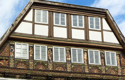 Straat in Lemgo, Duitsland Royalty-vrije Stock Foto's