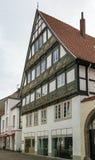 Straat in Lemgo, Duitsland Royalty-vrije Stock Afbeelding