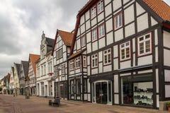 Straat in Lemgo, Duitsland stock foto