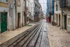 Straat in Lissabon, Portugal Stock Afbeelding