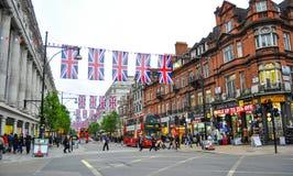Straat in Londen Stock Foto's