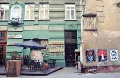 Straat in Lviv Stock Foto