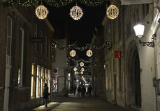 Straat in Maastricht stokstraat Royalty-vrije Stock Foto's