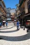 Straat in Macao Royalty-vrije Stock Afbeelding