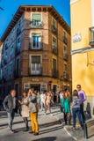 Straat in Madrid royalty-vrije stock afbeelding
