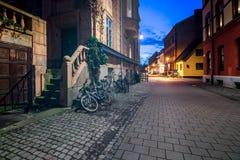 Straat in Malmo, Zweden Royalty-vrije Stock Foto's