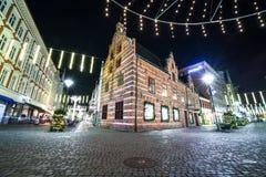 Straat in Malmo, Zweden Stock Afbeelding