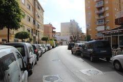 Straat in Marabella, Spanje Stock Fotografie