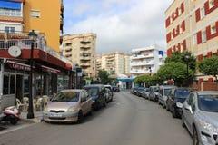 Straat in Marabella, Spanje Stock Afbeelding