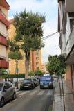 Straat in Marabella, Spanje Stock Foto