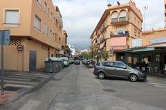 Straat in Marabella, Spanje Stock Afbeeldingen