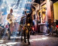 Straat in Marrakech Stock Afbeelding