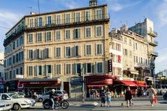 Straat in Marseille Stock Foto's