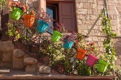 Straat in medival stad van Rhodos Stock Afbeelding
