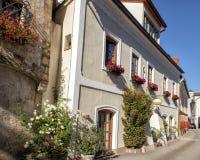 Straat in Melk, Lager Oostenrijk, Oostenrijk royalty-vrije stock foto